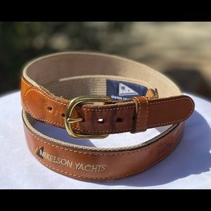 VTG Mikelson Yachts USA 🇺🇸Made Leather Belt Sz34